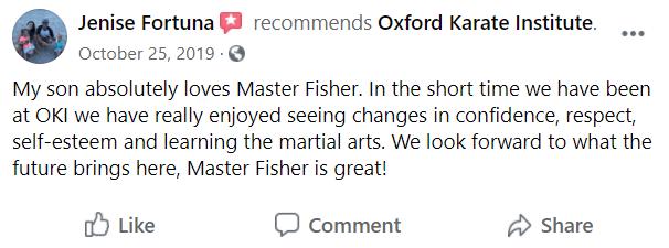 Kids2, Oxford Karate Institute