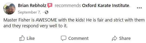 Kids3, Oxford Karate Institute